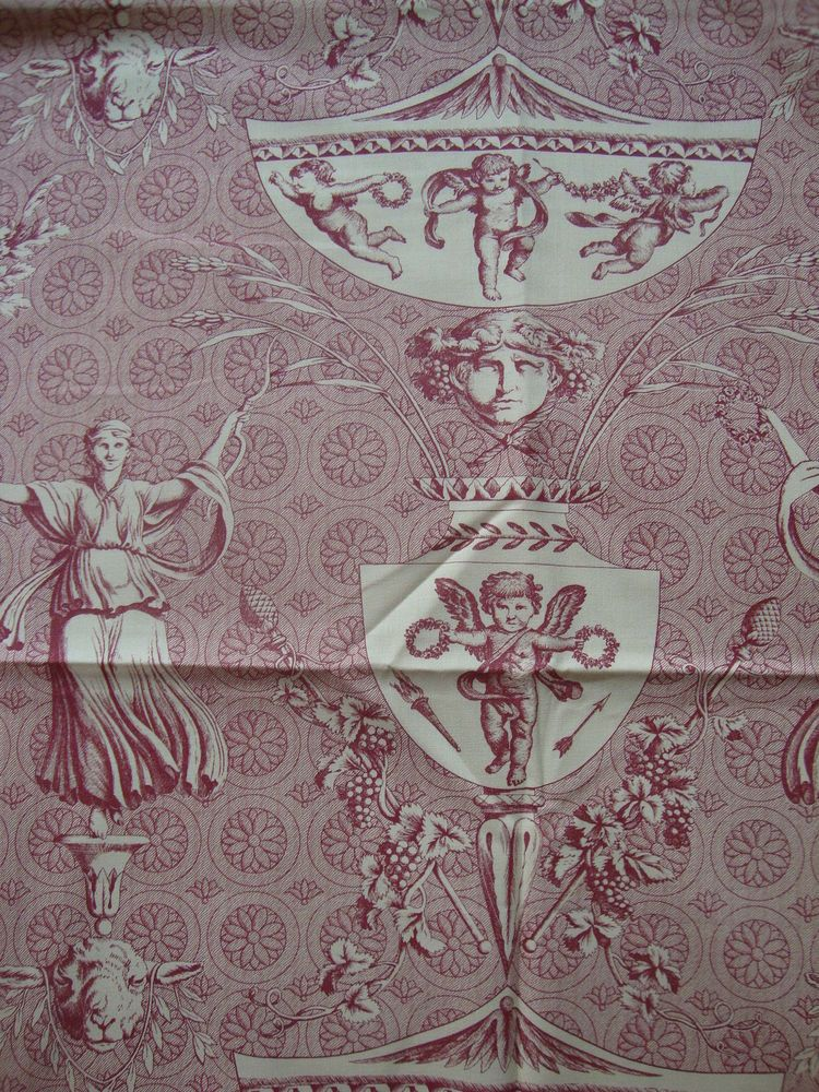 stunning MARVIC Aphrodite toile de jouy cotton curtain fabric 2.35 m