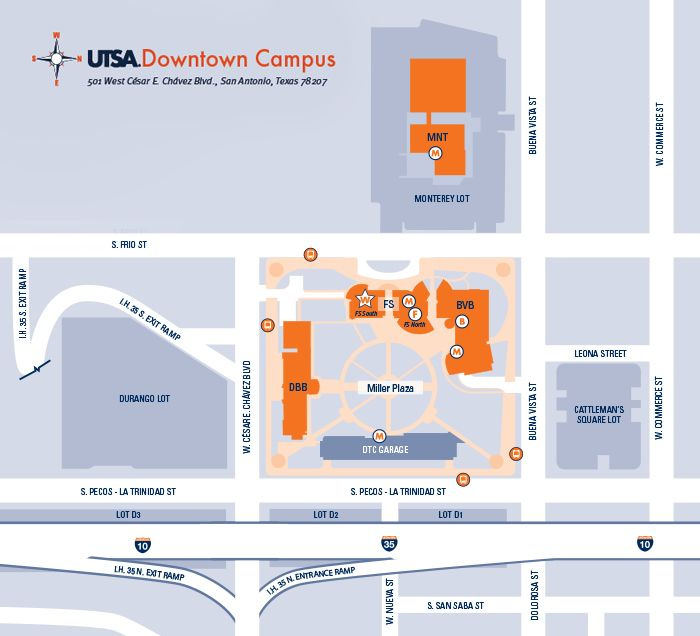 Utsa Downtown Campus Map Helderateliers