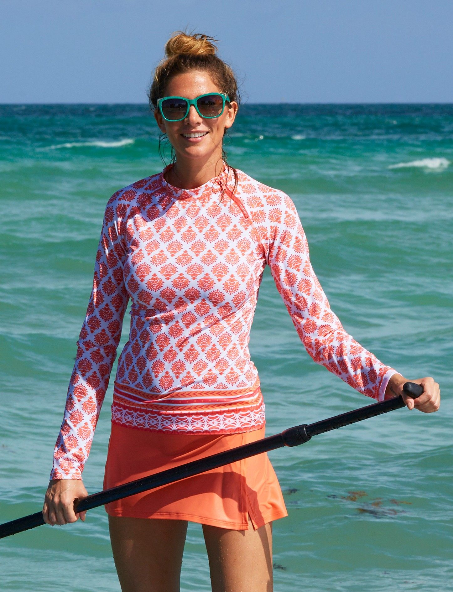 08745aaf77 Nantucket sound zipper rashguard, Cabana Life, UV 50+ Sun protection