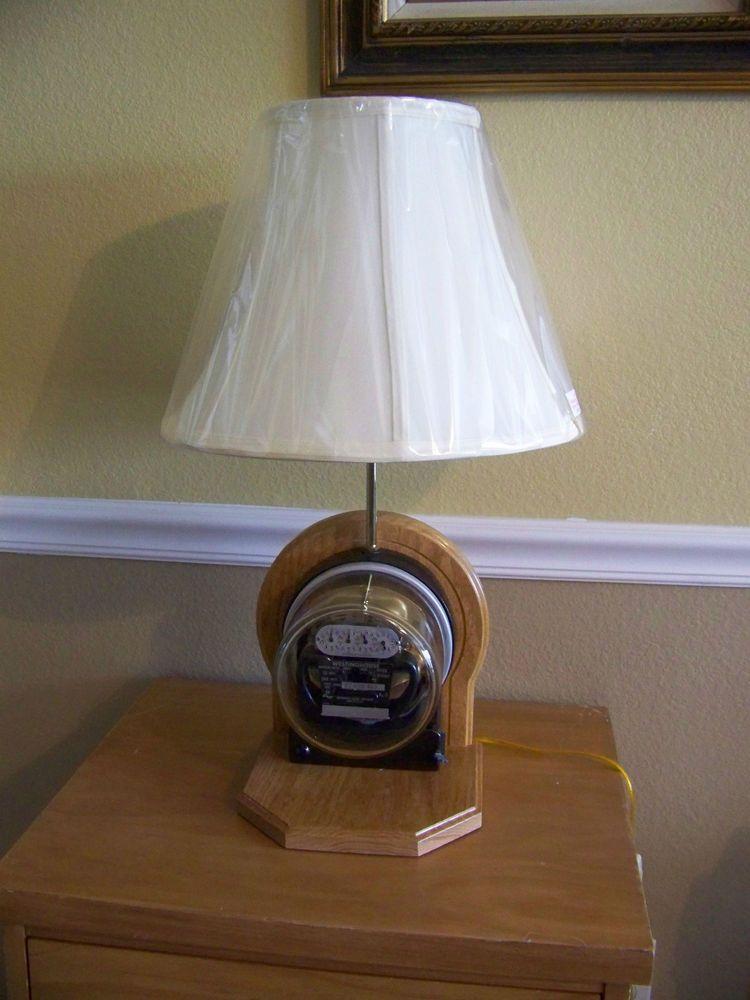 Vintage Steampunk Westinghouse Electric Meter Table Lamp
