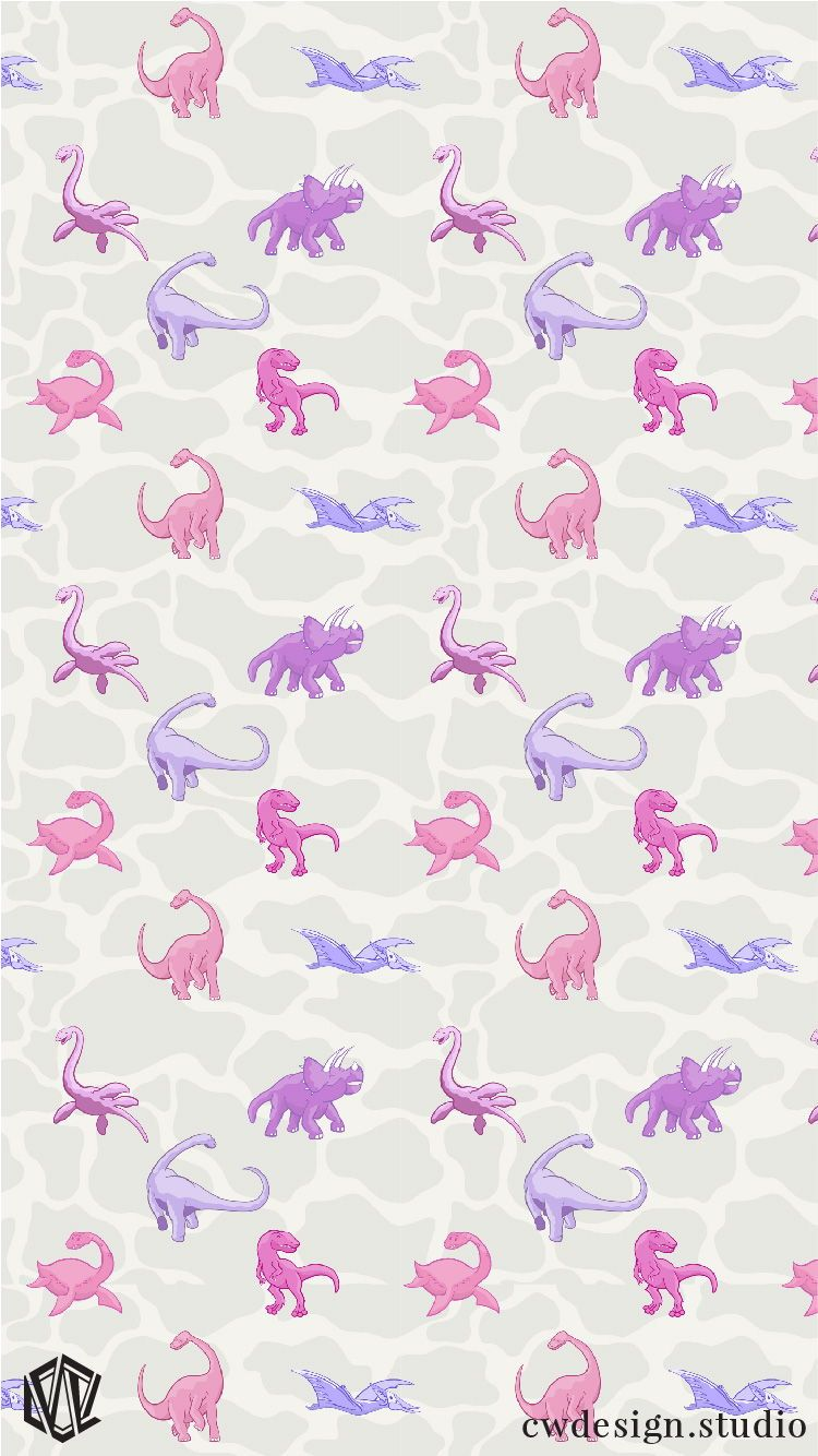 Dinosaur Design For Girls Princess Awesome Pink Dinosaurs Dinos For Girls Dinosaur Wall Paper Backgr Dinosaur Wallpaper Iphone Wallpaper Cute Girl Wallpaper
