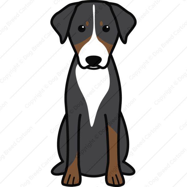 Appenzeller Sennenhund Special Edition Dog Breed Cartoon