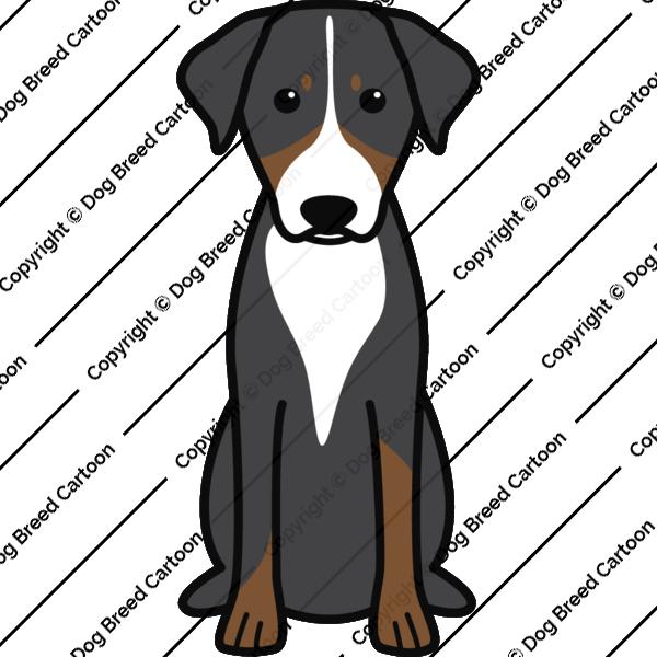Appenzeller Sennenhund Special Edition Dog Breed Cartoon