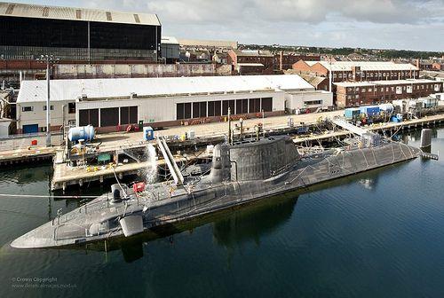 Hms Ambush Preparing To Leave Builders Yard At Rosyth Scotland Royal Navy Submarine Royal Navy Submarines
