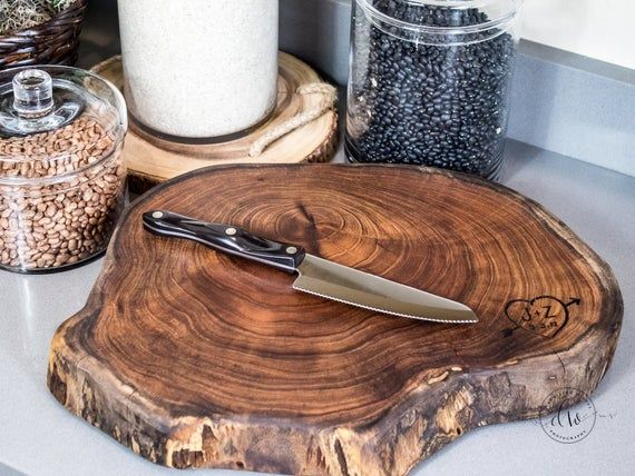 Wedding cake stand cutting board combo made from n