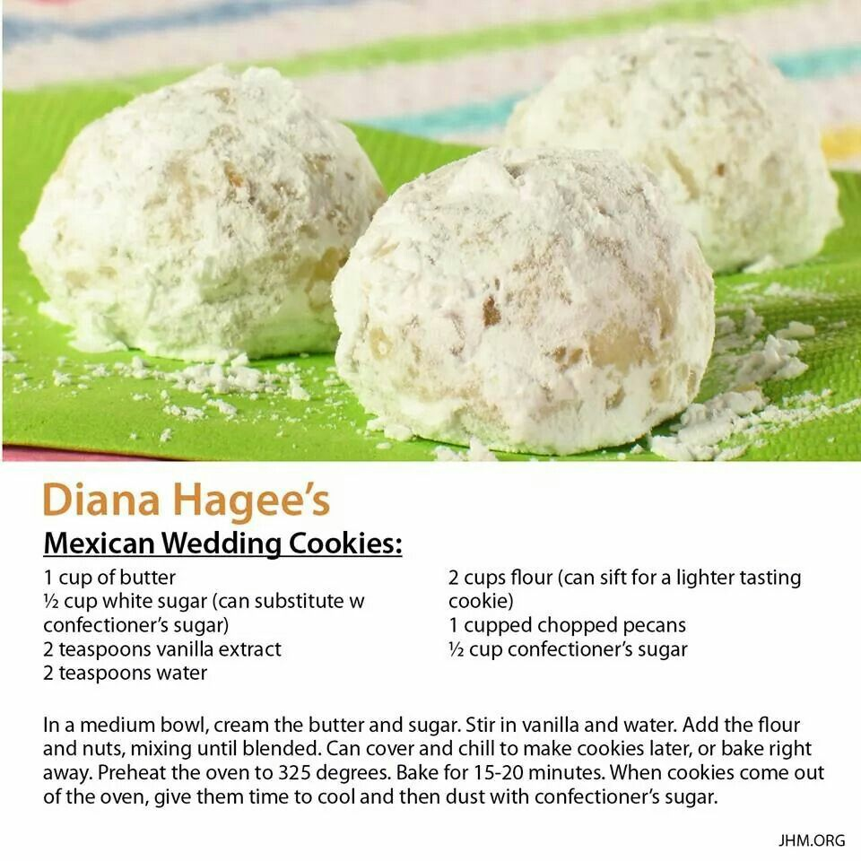 Recipe For Mexican Wedding Cookies: Diana Hagee's Mexican Wedding Cookies