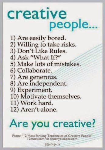 """Take risks. Ask """"Why If"""". Collaborate. Experiment. Work hard. #BeCreative!"""