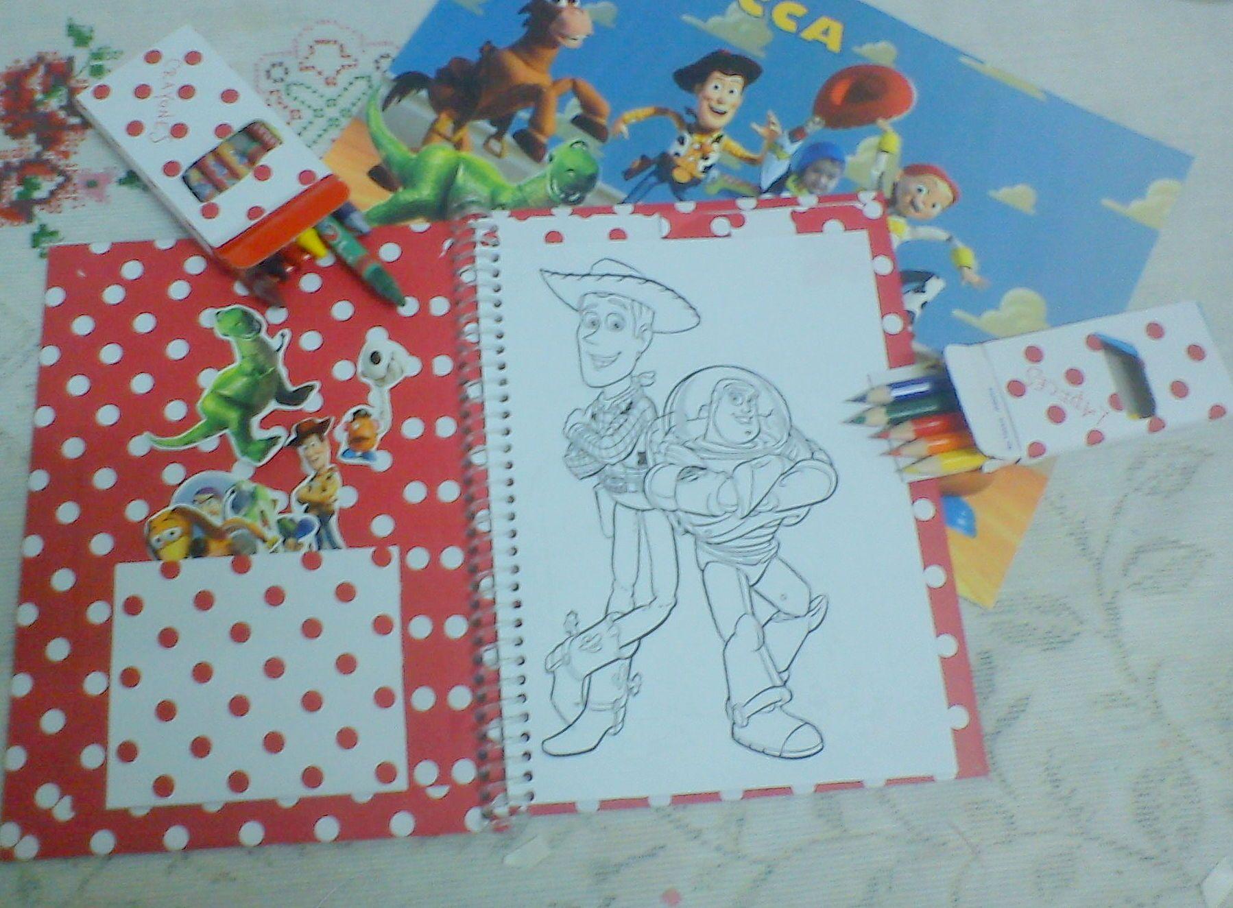 Libro para colorear Toy Story personalizado + lapices y crayones ...