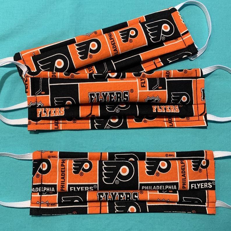 Flyers face mask philadelphia flyers print filter
