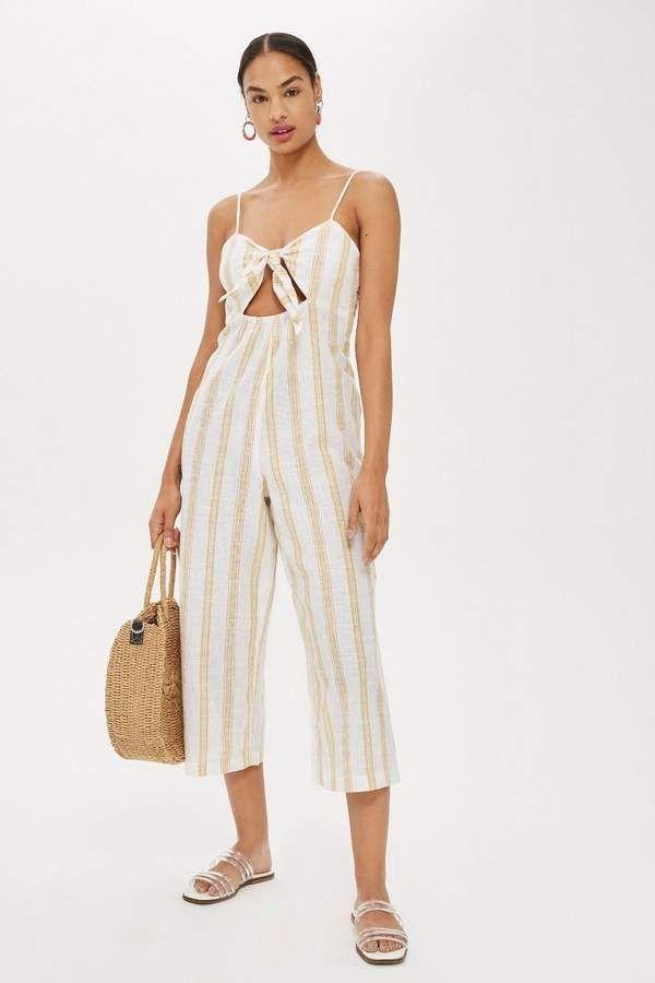 63250f980525 Striped Jacquard Jumpsuit - Swimwear   Beachwear - Clothing ...
