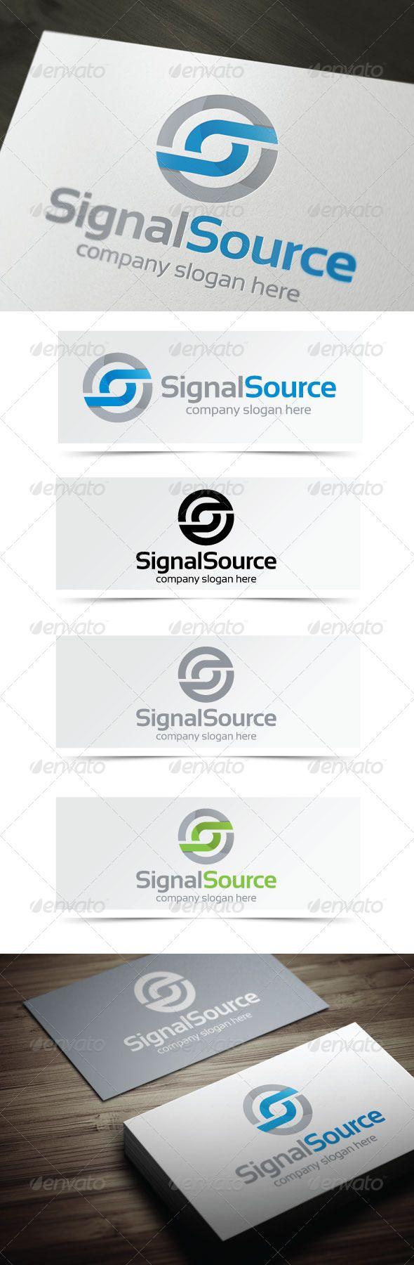 Signal Source Logo templates, Tree logo design, Circle
