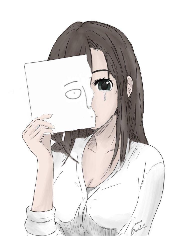 Saitama One Punch Man Manga Fille Triste Fille Triste