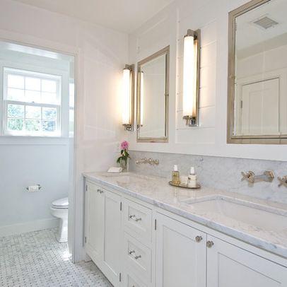 Floor Mirrors Lighting Countertop Beautiful White