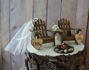 Country Adirondack Chair Wedding Cake Topper By MorganTheCreator