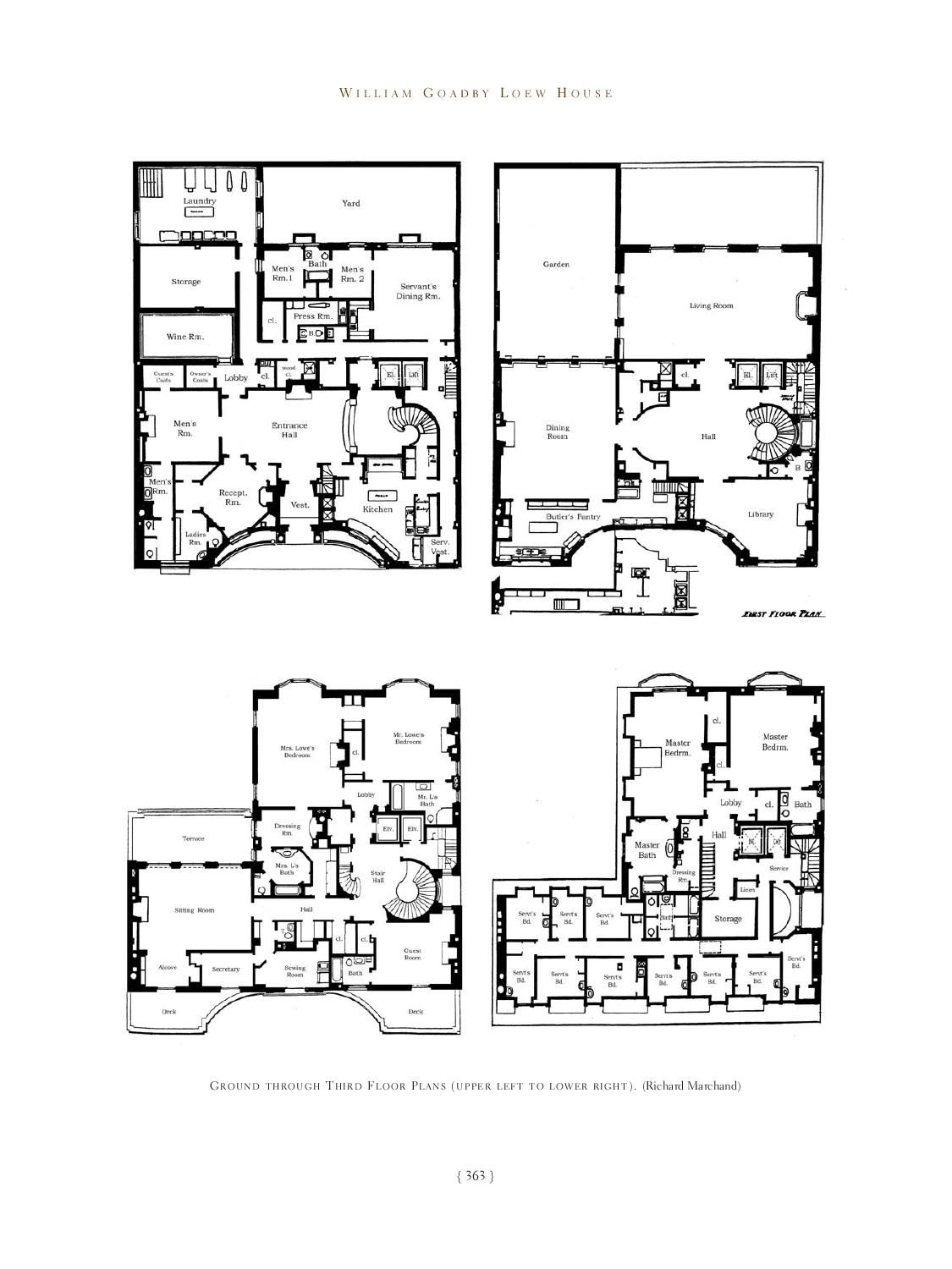 Great Houses Of New York House Plans Mansion Floor Plan Great House