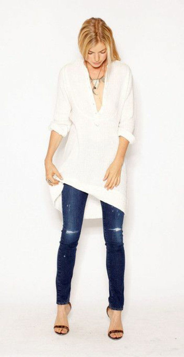 une chemise blanche femme classique moderne look 2016 pinterest chemise. Black Bedroom Furniture Sets. Home Design Ideas
