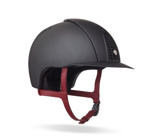 Eole Hermes Equestrian Helmet In Black Polycarbonate Removable