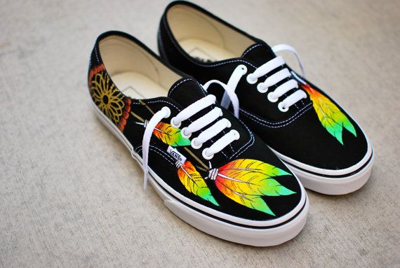 Rasta Dream Catcher Vans by BStreetShoes on Etsy, $149.00