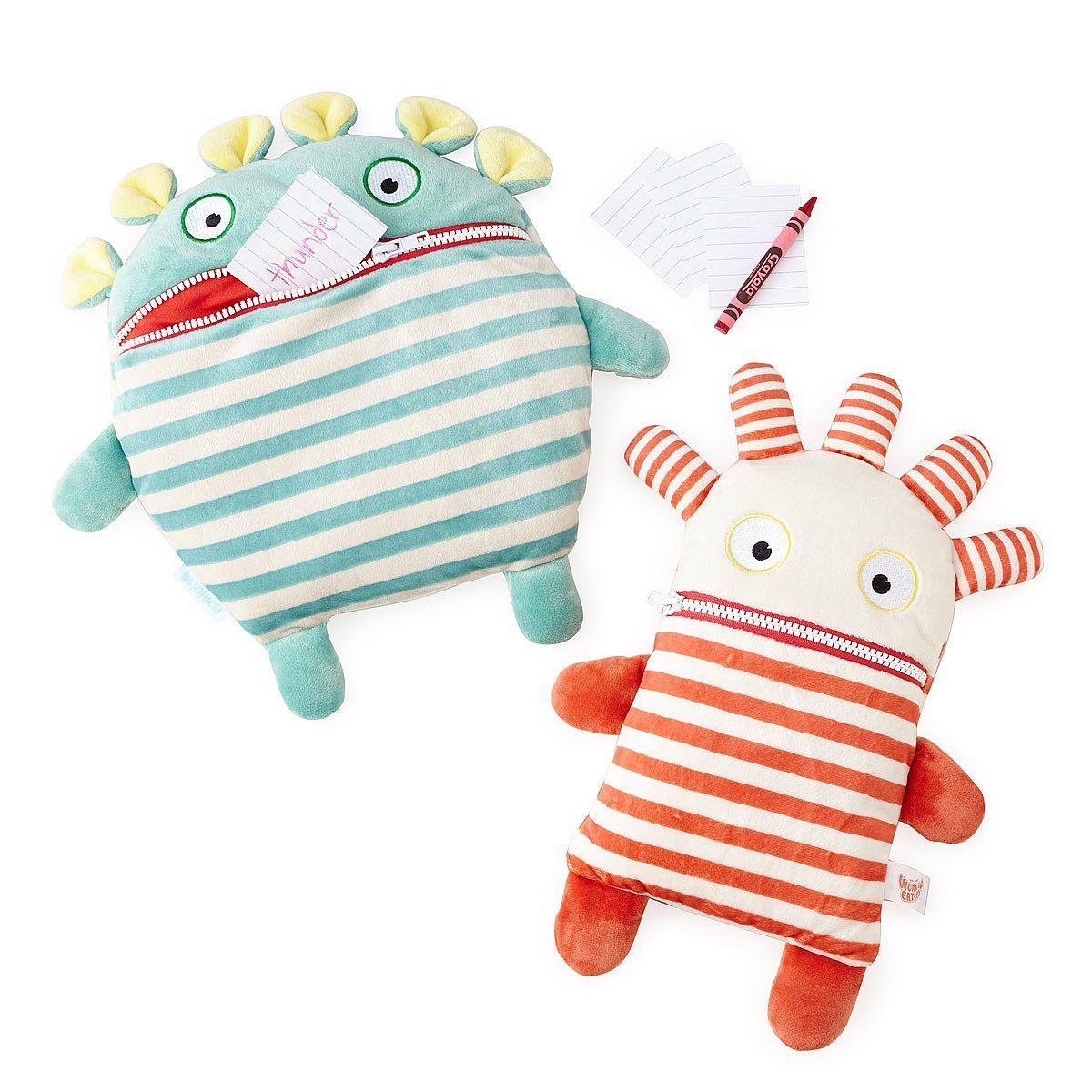 Worry Eating Plush Pals stuffed animals, stress aid