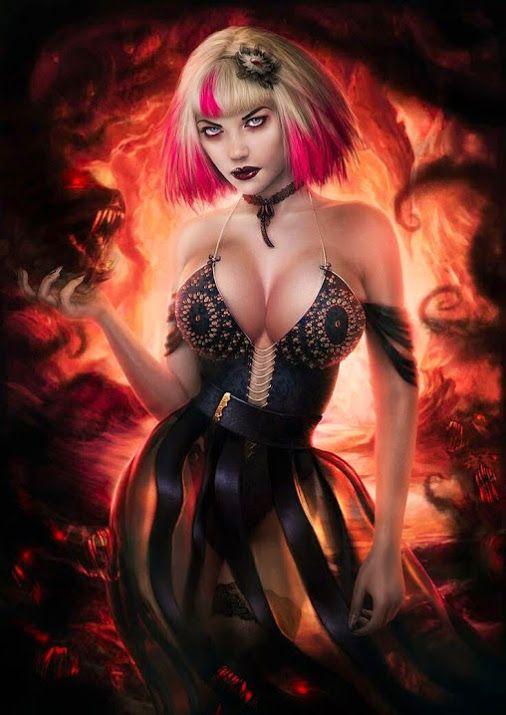 Magic Art World - Google+ Vampire Girl by Omri Koresh