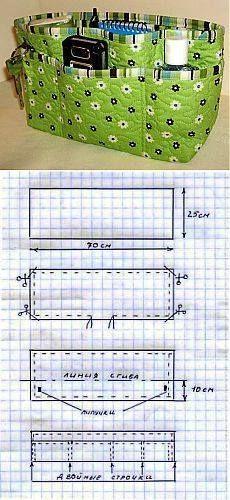 innentasche organizer f r jede handtasche taschen aller. Black Bedroom Furniture Sets. Home Design Ideas
