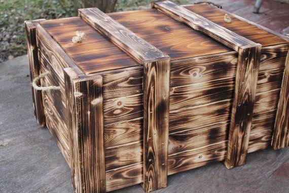 Wood crate  Handmade foot locker  Toy box  Storage by