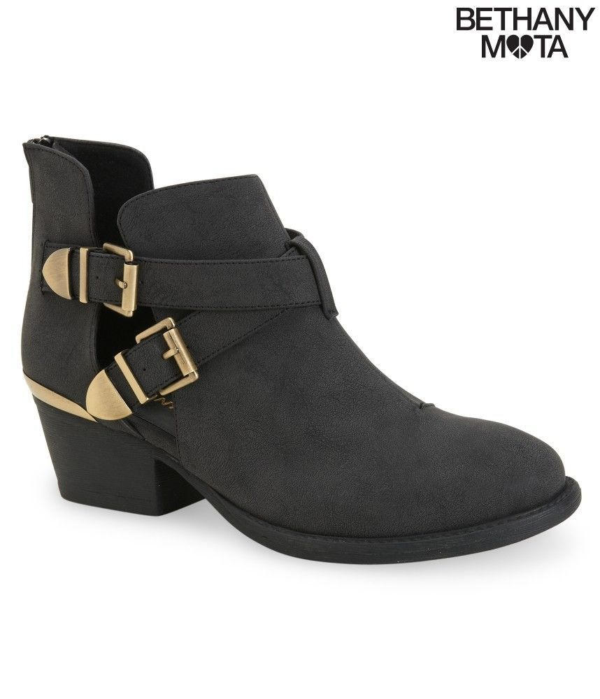 66a934328f5 New Aeropostale Bethany Mota Cut-Out Buckle Bootie Ankle Boot Faux ...