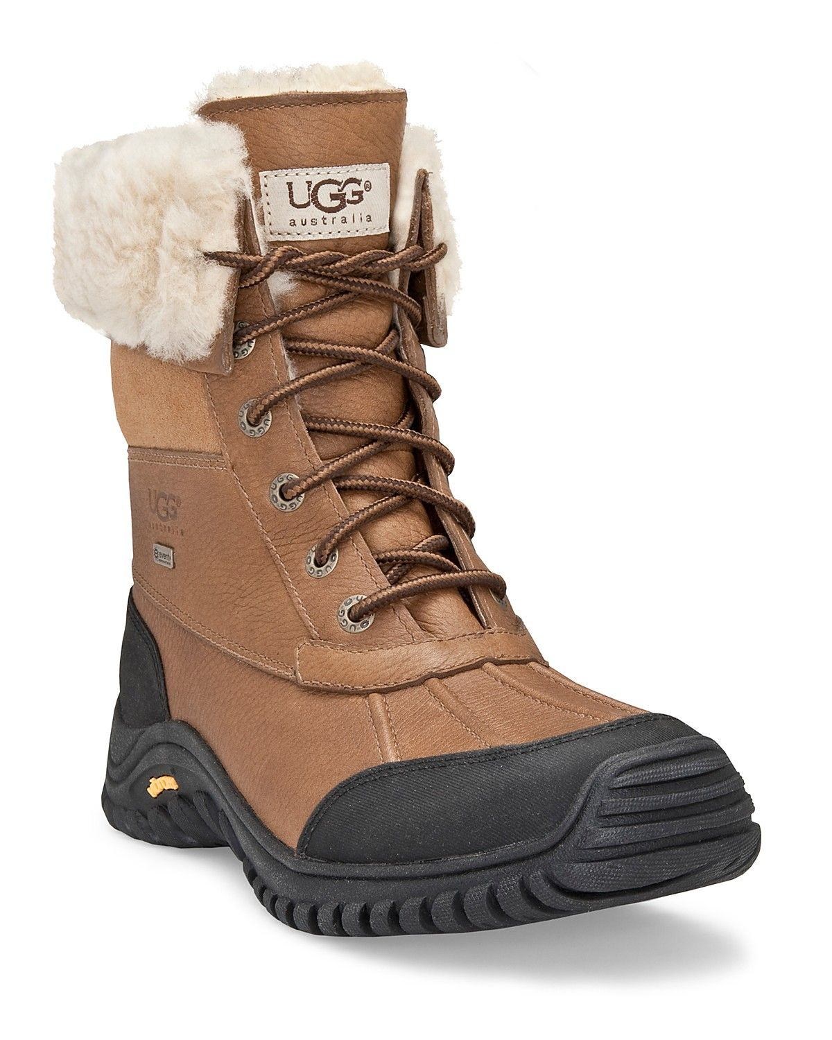 snowy style courtesy of ugg these suede boots feature a frill of