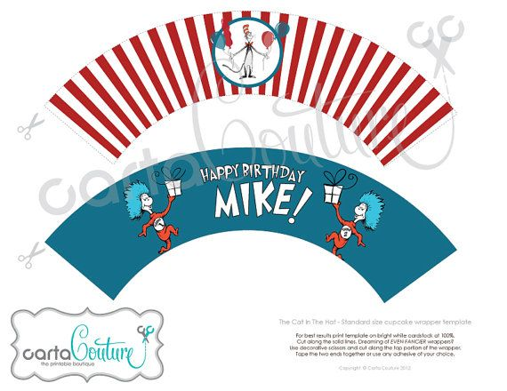DIY Personalized Printable Dr Suess The Cat In The by CartaCouture