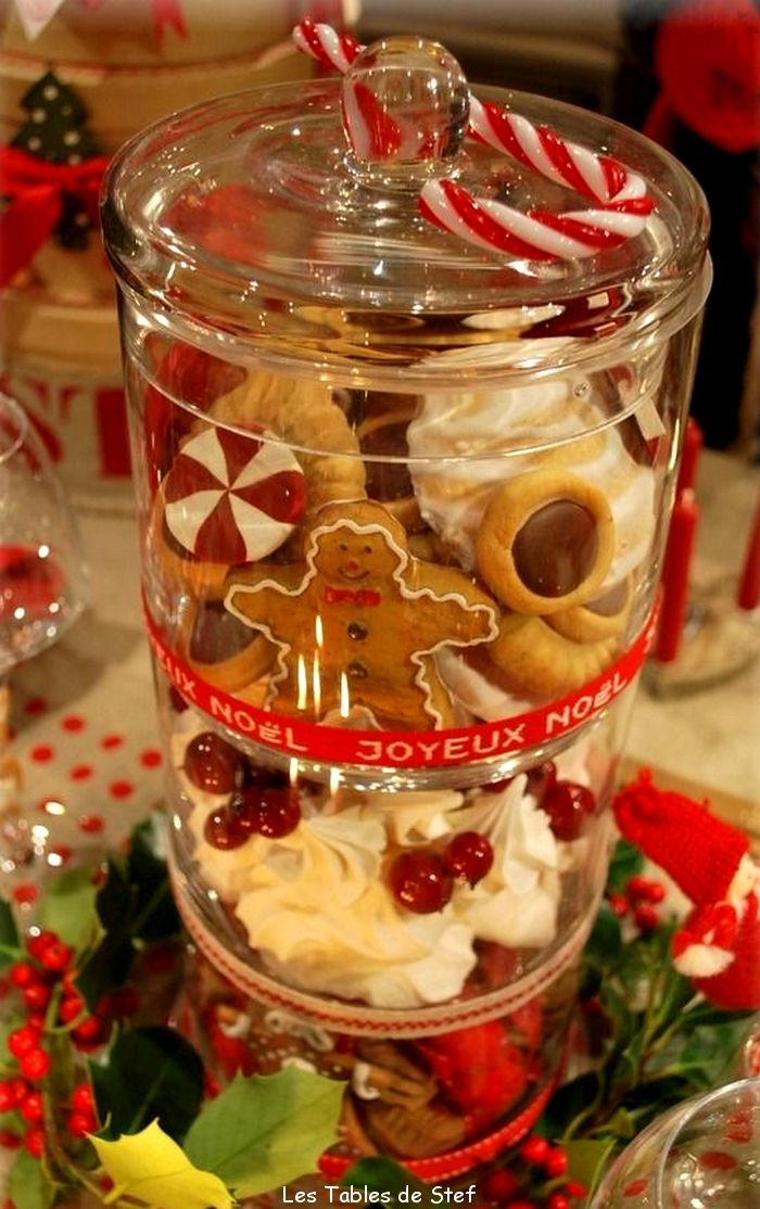 Decor de table de noel recherche google no l pinterest christmas parties jars and glasses Une deco de table de noel