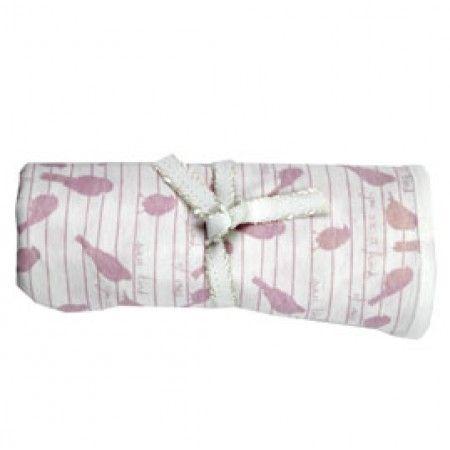 Gaia Pink Birds - Organic Baby Wrap