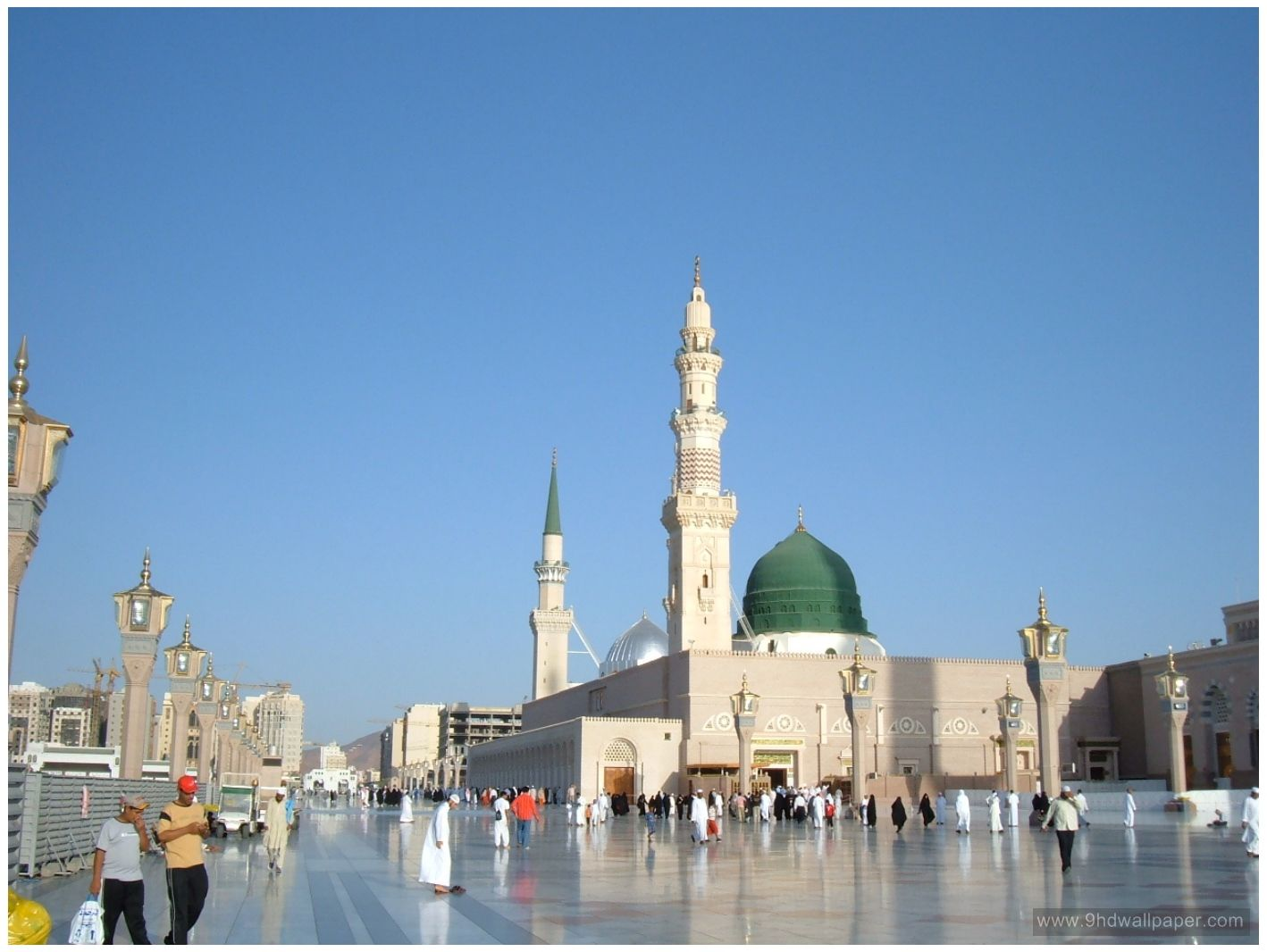Masjid Nabawi Hd Wallpaper Free Download Wallpapers Pinterest