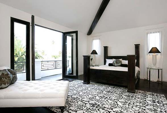 black and white bedroom designs and room interiors beautiful black white interior photos designs pictures - Black And White Bedroom Decor