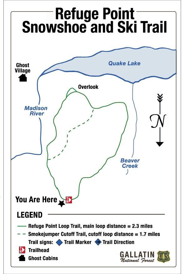 Refuge Point Snowshoe & Ski Trail map Hiking Trails