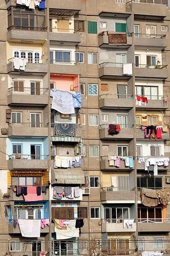Balconies Of Apartment Block Cairo Egypt Places I Have Been
