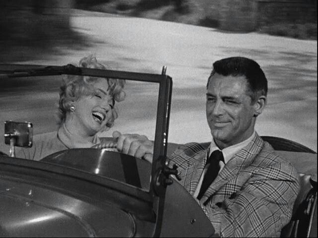 Marilyn Monroe and Cary Grant in Monkey Business, 1952.