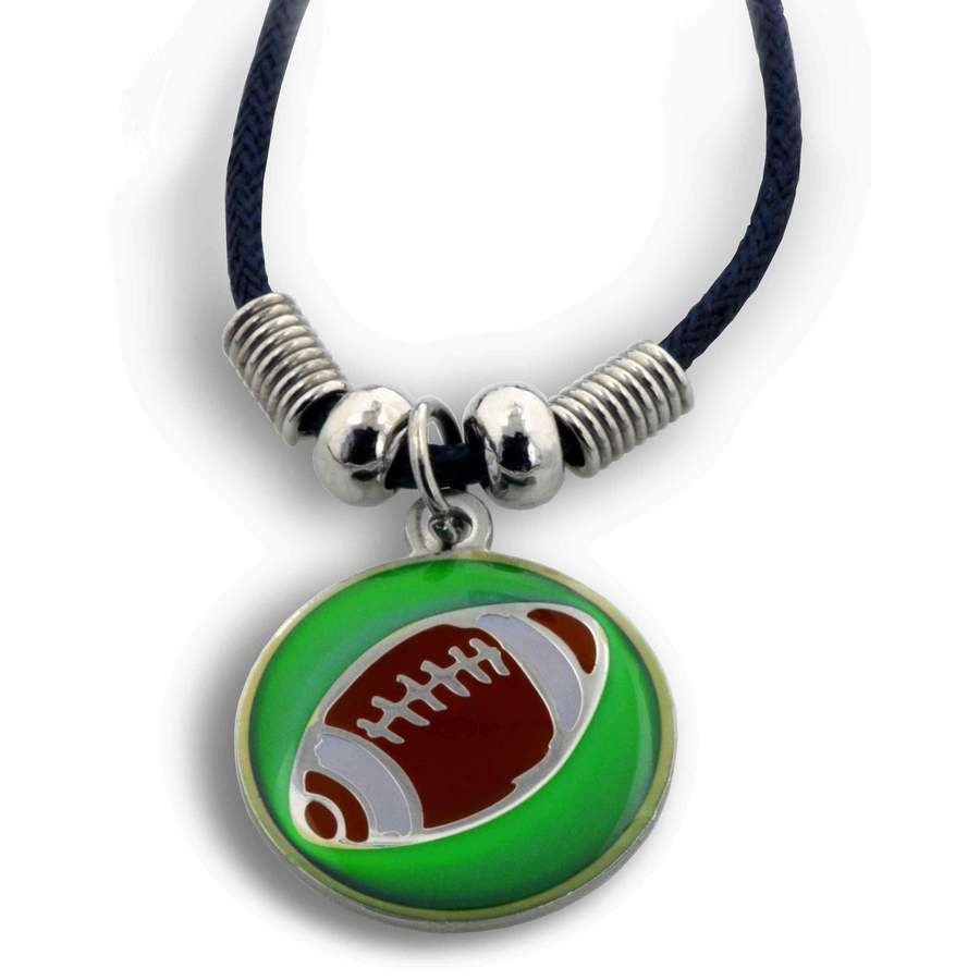 Phil 4 13 Football Mood Necklace Football Necklace Football Jewelry Christian Necklace