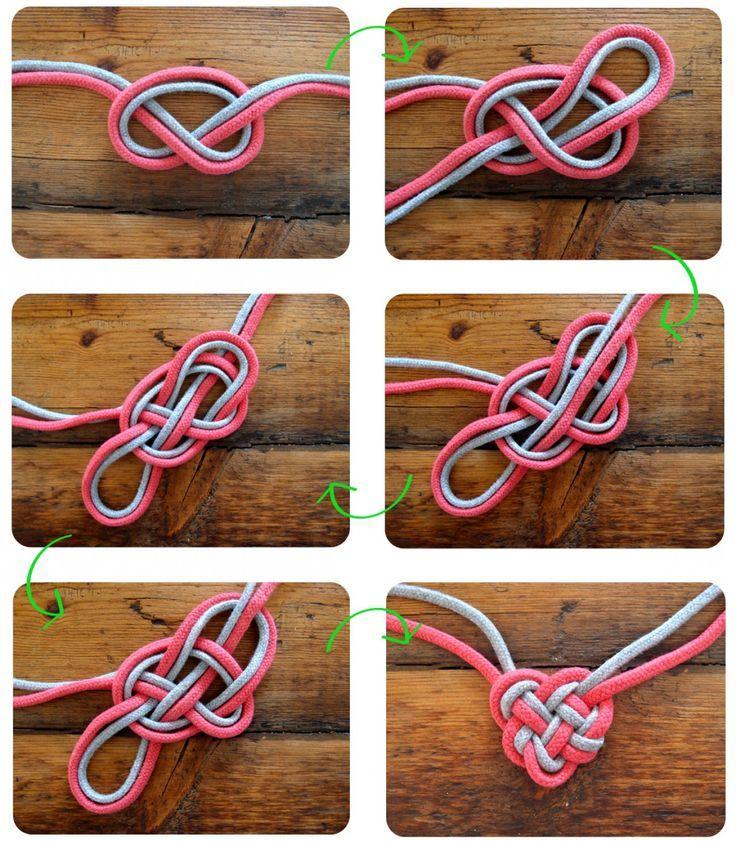 Photo of Herz-Knoten-Halskette für Muttertag basteln mit Kindern #crafts #necklace #he …