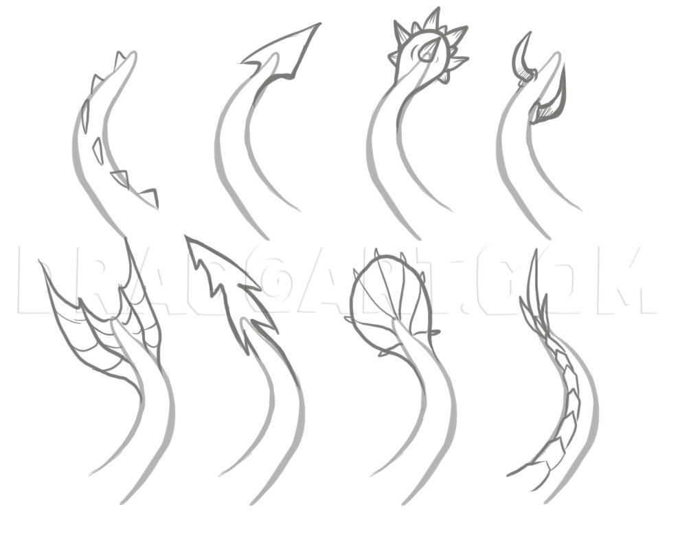 How To Draw Easy Dragons, Step by Step, Drawing Guide, by