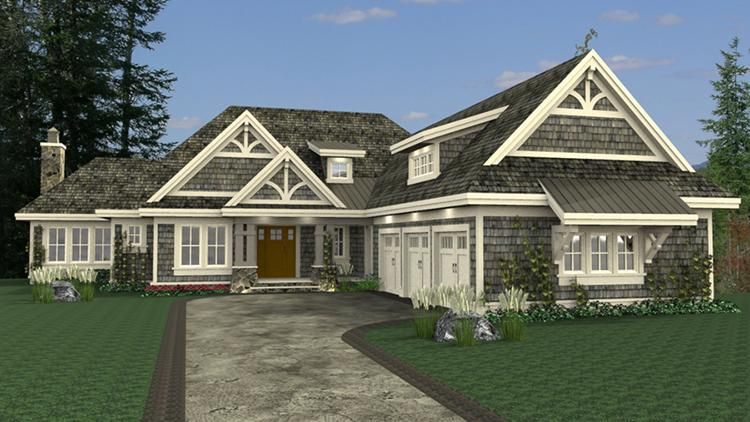 House Plan 098 00290 Traditional Plan 4 668 Square Feet 3 Bedrooms 3 5 Bathrooms Courtyard House Plans Basement House Plans Garage House Plans