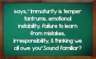 Parents Who Are Emotionally Immature : Effects On Their Children. - Child Abuse, Trauma and Recovery