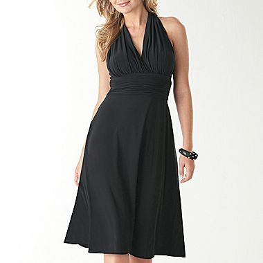 90685cbd424 Jones Wear® Marilyn Mock-Halter Ruched Dress - jcpenney Perfect Little  Black Dress