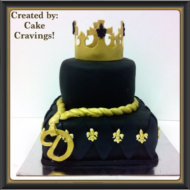 King Themed Birthday Cake