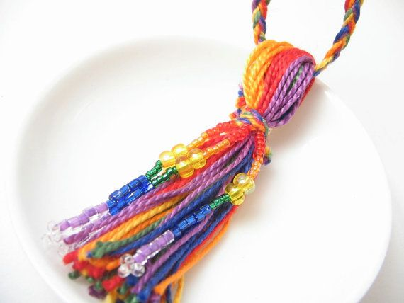 Rainbow Beaded Wedding Tassel by lizbethsgarden on Etsy, $1500 Love