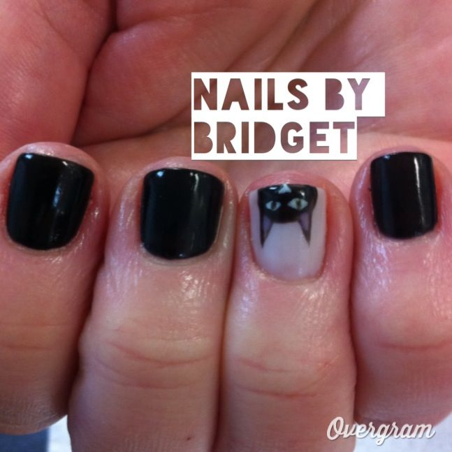 Cat Nail Design For My Crazy Car Lady Client Nails By Bridget