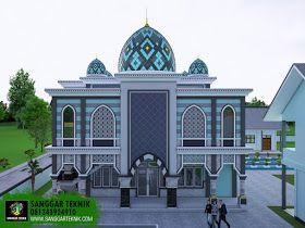 desain masjid minimalis modern 2018 2 lantai | arsitektur