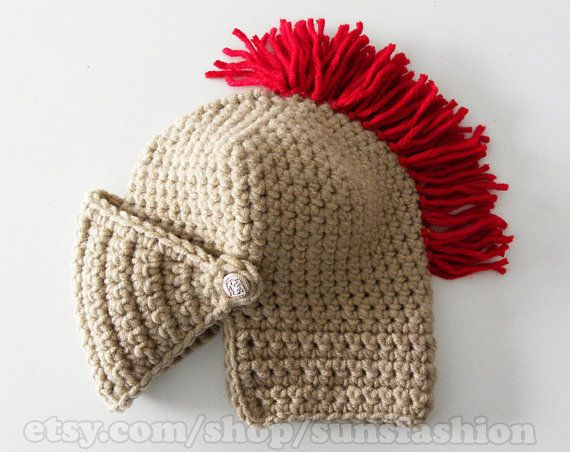 Knight Helmet Hat Crochet Game of thrones Slouch Mens Convertible ...