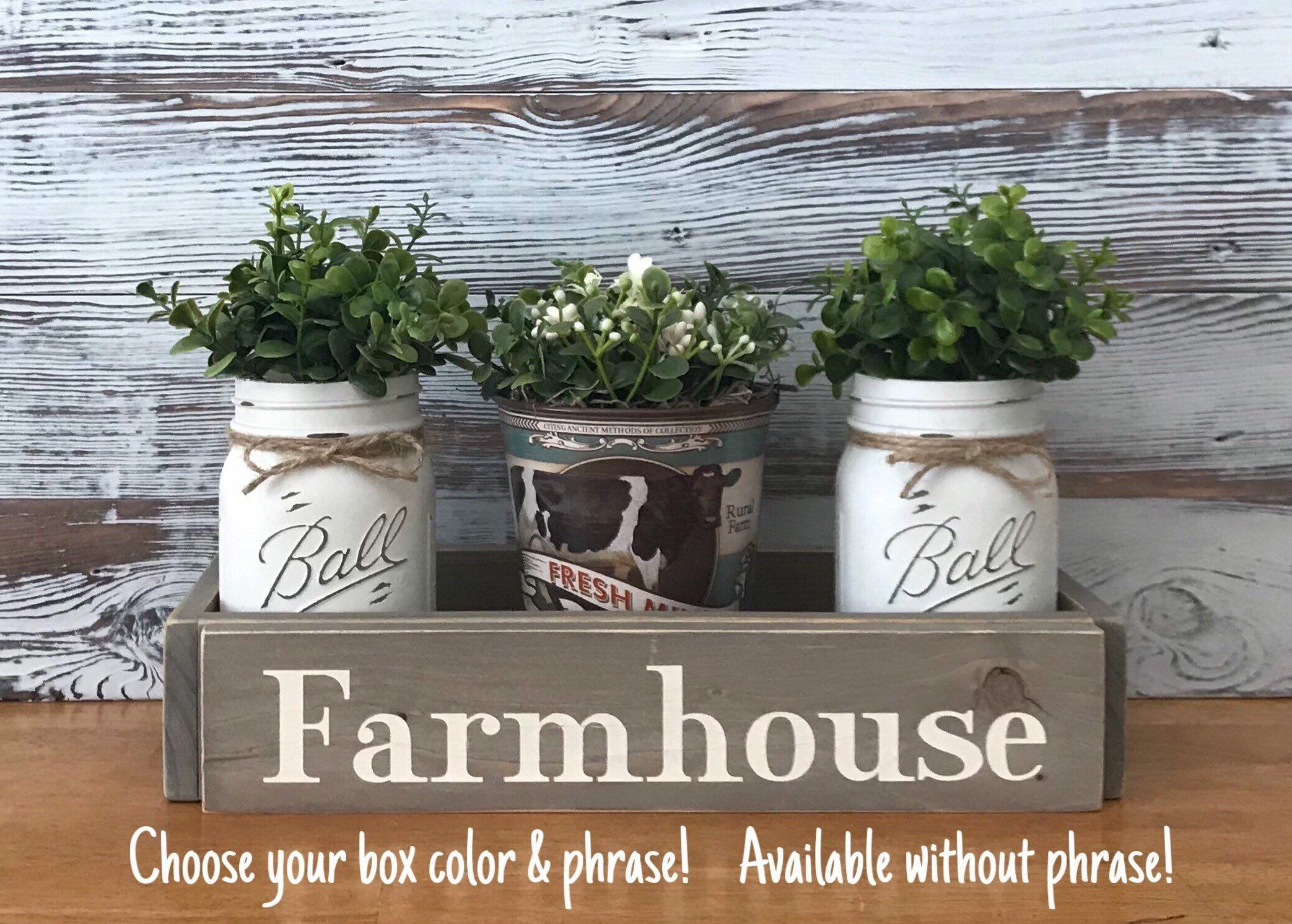 Excited To Share This Item From My Etsy Shop Mason Jar Centerpieces For Dining Table Rustic Farmhouse Table Decor Dining Table Rustic Mason Jar Centerpieces