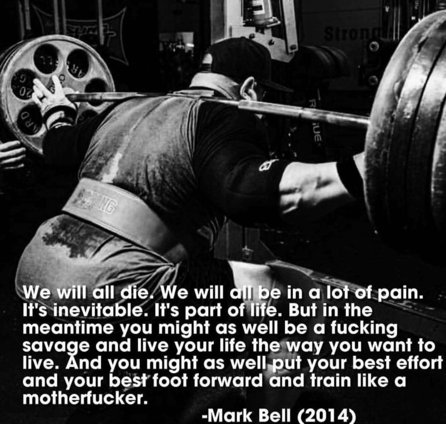 Might as well train like a motherfucker. iron life powerlifting