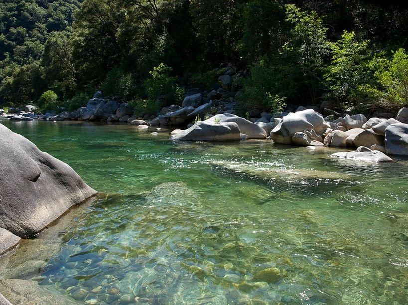 Swimming holes like this one in Sacramento Valley have us